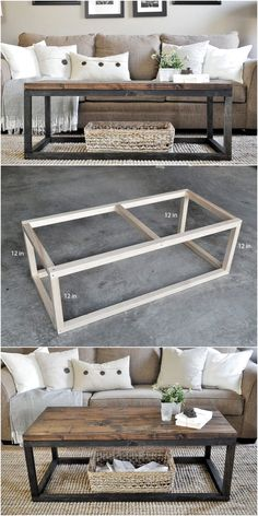 Cheap DIY Projects,DIY Industrial Coffee Table-Skip all of those ideas which dem. - Cheap DIY Projects,DIY Industrial Coffee Table-Skip all of those ideas which demand a lot of money - Diy Wood Projects, Furniture Projects, Home Projects, Diy Furniture, Furniture Design, Home Design Diy, Design Ideas, Interior Design, Industrial Home Design