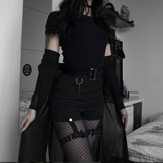 Korean Fashion Trends you can Steal – Designer Fashion Tips Hipster Outfits, Bad Girl Outfits, Gothic Outfits, Edgy Outfits, Teen Fashion Outfits, Mode Outfits, Grunge Outfits, Cute Casual Outfits, Pretty Outfits