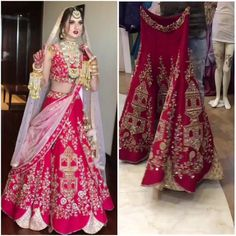Red Wedding Bridal Lehenga Finally completed my project making this speechless bridal lehenga for my Bride In London :) ✈️ This red wedding bridal lehenga has been made in Pure Silk With Swarovski Stone, Zari Work, Pearls, Dabka Embroidery Work Fully