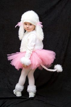 kids poodle costume with pink tutu. Sheep Costumes, Animal Costumes, Halloween Kostüm, Baby Costumes, Halloween Costumes For Kids, Cool Costumes, Dance Costumes, Puppy Costume For Kids, Children Costumes