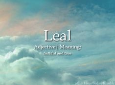 Leal (adjective) - Faithful and True - The Words, Fancy Words, Weird Words, Words To Use, Pretty Words, Cool Words, Beautiful Words In English, Interesting English Words, Unusual Words