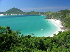 In the State of Rio de Janeiro, Arraial do Cabo is - together with Cabo Frio - the perfect place for swimming, snorkeling, scuba diving, windsurfing and surfing. Brasil Travel, Wonderful Places, Beautiful Places, Photos Voyages, Destin Beach, Boat Tours, Beach Fun, Places Around The World, Beautiful World