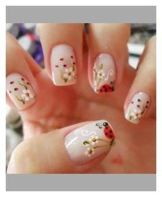 Cute lady bug nails!