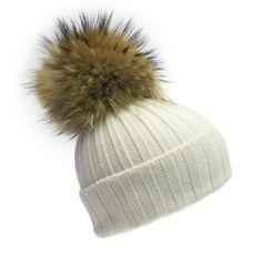 b9cb3324164   PRE ORDER ONLY   White Giant Fur Bobble Hat - Hats