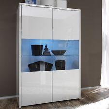 vetrinetta soggiorno design struttura in vetro illuminato con led ... - Vetrine Moderne Da Soggiorno 2