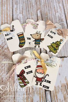 Fun Christmas Tags made with our Coaster Board