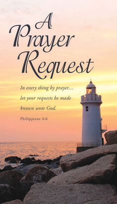 A Prayer Request, Lighthouse, Pew Cards (Philippians Pack of 50 Prayer For Today, Prayer Request, Funny Bible Verses, Bible Scriptures, Faith Sayings, Prayer Chain, Philippians 4 6, Pray Without Ceasing, Seek The Lord