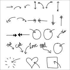 Free Arrows Font // treasuresandtravelsblog.com