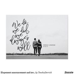 Elopement WE DID Eloped Photo Picture Modern Chic Announcement Invitation Card Elopement Party, Elopement Reception, Elope Wedding, Our Wedding, Paris Wedding, Wedding Ceremonies, Winter Elopement Ideas, Wedding Posing, Elopement Dress