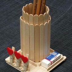 Uncategorized 45 creative pen holders for home office How to make a pen  stand at home
