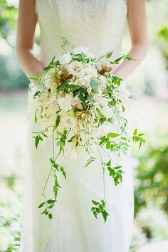 Cascading Garden Bouquet but with colored flowers Cascading Wedding Bouquets, Cascade Bouquet, Bride Bouquets, Bridal Flowers, Garden Inspiration, Wedding Inspiration, Wedding Ideas, Wedding Book, Garden Wedding