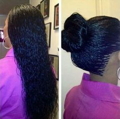 Wet and wavy micro braids