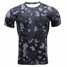 New 2017 Men Base Layer Camouflage T Shirt Fitness Tights Quick Dry Camo T Shirts Crossfit Compression Shirt Brand clothing Tops T Shirt Fitness, Fitness Tights, Fitness Men, Yoga Fitness, Mode Camouflage, Camouflage T Shirts, Hunting Camouflage, Military Camouflage, Bodybuilding T Shirts