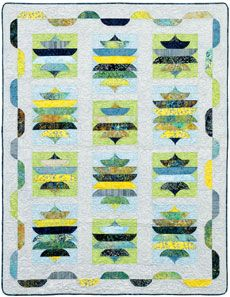 Tonga Batiks Quilt Pattern   ... Play Freatures the Timeless Treasures Tonga Lemon Poppy collection