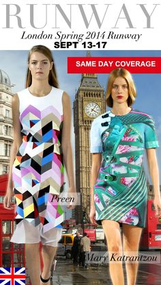 Trend Council:  London Spring 2014 Runway PREEN & MARY KATRANTZOU