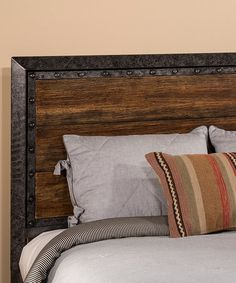 Great nod to industrial design with this Old Black Mackinac Headboard. This paired with some black night stands would be a great way to tie the bedroom in with industrial design without overdoing it and still keep it soft and cozy. Queen Headboard And Frame, King Headboard, Hillsdale Furniture, Headboards For Beds, Headboard Ideas, Home Bedroom, Bedroom Ideas, Master Bedroom, Bedrooms