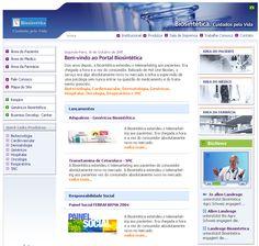 """Portal """"Biosintética Cuidados Pela Vida"""" para médicos e pacientes. Um portal repleto de notícias e serviços online."""