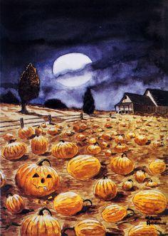 A Charles Addams Pumpkin Patch.
