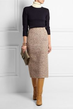 Acne Studios | Bryn two-tone ribbed wool turtleneck sweater | NET-A-PORTER.COM