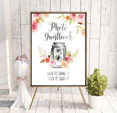 Guestbook Sign Photobooth Sign Photo Wedding Guestbook Sign