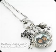 Personalized Charm Necklace Personalized by BlackberryDesigns, $89.00