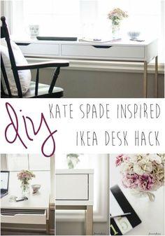 Found at the #sundaysdownunder link up: Kate Spade Inspired #IKEA Desk via @personalyandrea