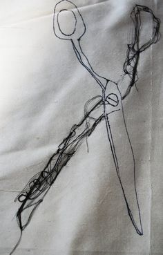 embroidered scissors | lisa wilcockson