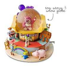 Our Toy Story 3 Snow Globe from the Disney Store Outlet - reg $89.50 on sale for $19.99! ...wonder if they still have