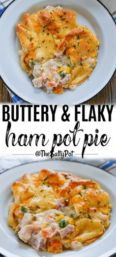This Buttery and Flaky Ham Pot Pie is ideal for using up leftover ham! It's SO d… This Buttery and Flaky Ham Pot Pie is ideal for using up leftover ham! It's SO delicious, just like chicken pot pie, but better! Easy Pie Recipes, Healthy Recipes, Pork Recipes, Crockpot Recipes, Cooking Recipes, Chicken Recipes, Recipies, Leftover Ham Recipes, Leftovers Recipes