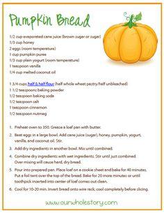 pumpkin bread (a healthy version)