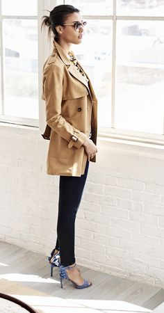 Our cotton and linen blend trench is the perfect jacket to take you right into the fall season | Banana Republic