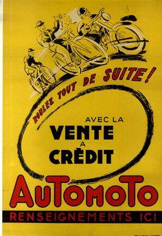 Affiche Ancienne Velo Moto Automoto Saint Etienne Loire IMP LE Henaff | eBay