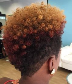 Natural Fauxhawk For Women: This tapered cut is giving me so much life!
