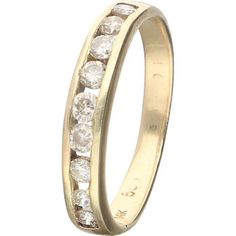 345 euro incl insured shipping gold ring diamonds brilliant cut 0.27 ct size 17,25 resizable please visit our webshop and order http://www.juwelina.nl