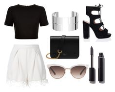 """""""the black is simple"""" by beatrizoliveira225 ❤ liked on Polyvore featuring Zimmermann, Ted Baker, Mulberry, Dinh Van, Chanel and Gucci"""