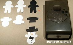 Stampin' Up! Punch Art, Cookie Cutter, Snowman, created by Pauline Barnfather, I Create Craft