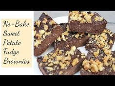 NO-BAKE SWEET POTATO FUDGE BROWNIES | Simple, Easy, Healthy - YouTube