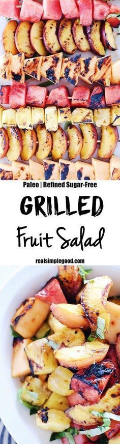 Have you tried grilling your fruit yet? It is so delicious and easy for your upcoming Labor Day BBQ. Serve as a side of a delicious sweet dessert with a scoop of vanilla ice cream!