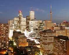 Toronto at dusk. Places Ive Been, Places To Go, Quay West, Toronto Street, Music Garden, Capital Of Canada, Toronto Island, Royal Ontario Museum, Toronto Travel