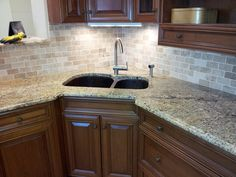 tile backsplashes with granite countertops | Tile backsplash and Granite countertop in Trenton, New Jersey