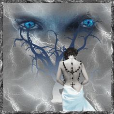 Blue Trance Vampire Pictures, Creepy Pictures, Gothic Pictures, Animiertes Gif, Animated Gif, Vampires, Images Terrifiantes, Glitter Gif, Eyes Wallpaper