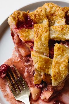 Pear and Sour Cherry Pie Recipe - combine pears with the tart bright ...