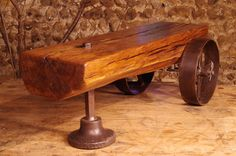 Up-cycled Table Reclaimed Oak 16th century beam and bits and bobs from around the workshop.