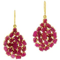 Ruby Small Invisible Set Earrings (22.140 BRL) ❤ liked on Polyvore featuring jewelry, earrings, multiple, earrings jewelry, ruby jewellery, ruby jewelry and ruby earrings