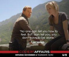 Covert Affairs  McQuaid and Annie #CovertAffairsSweepsEntry