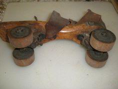 Vintage 17th Century Wooden Roller Skates   eBay