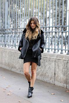 Blouson motard / Veste Biker / www.marieandmood.com / Fashion blogger / OCTOBRE2016 / @zara