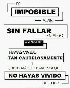 lo importante es aprender de los #errores, si no arriesgamos no ganamos!