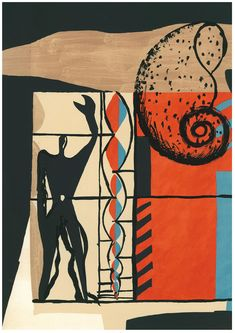 Fondation Le Corbusier - Engraving - Le Modulor -- Page 55 of the Poem of the right angel. lithography in 9 colours in Mourlot Workshop after an original by Le Corbusier Ouvrages D'art, Maurice Utrillo, Modern Art, Contemporary Art, Mondrian, Art And Architecture, Designer, Abstract Art, Collage