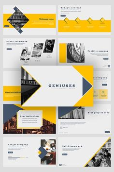 Introducing **Genuises – Creative Business PowerPoint TemplateThis Presentation Template can be used for any variety of purposes, such as: creative studio, Business Presentation, Presentation Templates, Creative Studio, Creative Business, Free Web Fonts, Business Powerpoint Templates, Personal Portfolio, Business Planning, Graphic Design Art